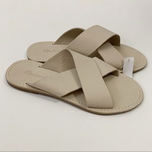 MADEWELL . Sightseer Slide Leather Sandals . 6.5